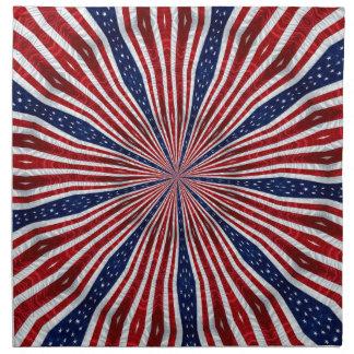 米国旗の万華鏡のように千変万化するパターンの抽象芸術2 ナプキンクロス