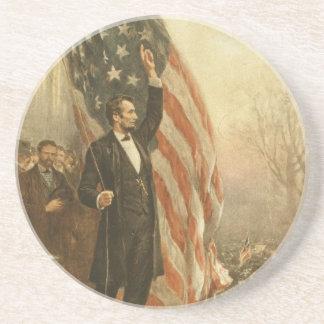 米国旗の下のエイブラハム・リンカーン大統領 コースター