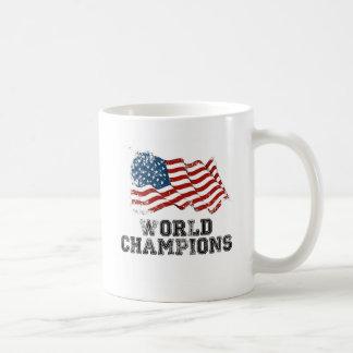 米国旗の世界のチャンピオン コーヒーマグカップ