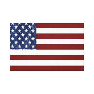 米国旗の伸ばされたキャンバス キャンバスプリント