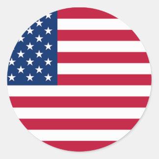 米国旗の円形のステッカー ラウンドシール