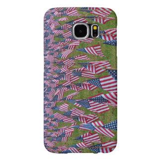 米国旗の写真が付いているSamsungの銀河系S6の箱 Samsung Galaxy S6 ケース