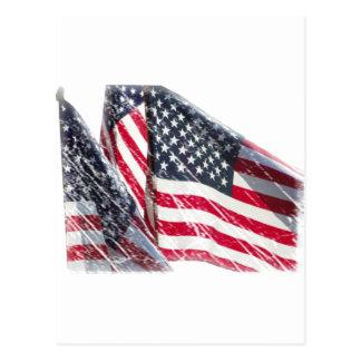 米国旗の切り出し ポストカード
