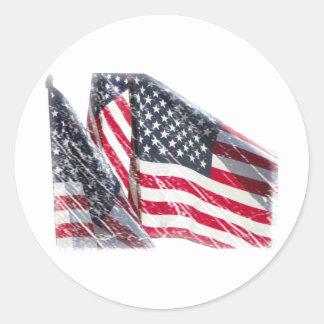 米国旗の切り出し ラウンドシール