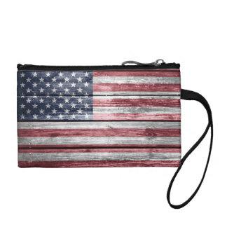 米国旗の動揺してなビーム硬貨の財布 コインパース