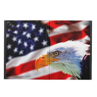 米国旗の北アメリカの白頭鷲 POWIS iPad AIR 2 ケース