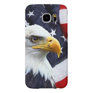 米国旗の北アメリカの白頭鷲 SAMSUNG GALAXY S6 ケース