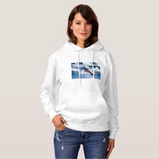 米国旗の女性のフード付きのセーター パーカ
