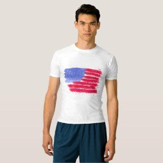 米国旗の性能の圧縮のワイシャツ Tシャツ