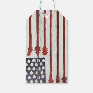 米国旗の愛国心が強いギター音楽テーマ ギフトタグ