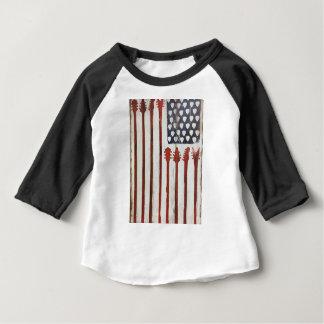 米国旗の愛国心が強いギター音楽テーマ ベビーTシャツ