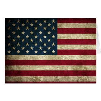 米国旗の愛国心が強いメッセージカード カード