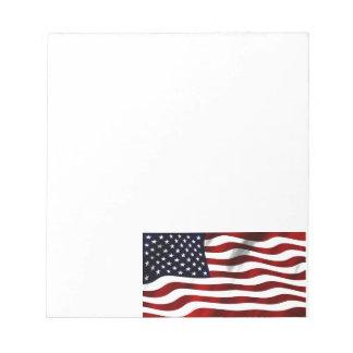 米国旗の愛国心が強い独立記念日 ノートパッド