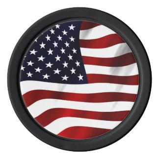 米国旗の愛国心が強い独立記念日 ポーカーチップ