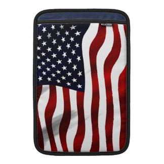 米国旗の愛国心が強い独立記念日 MacBook スリーブ