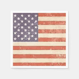 米国旗の愛国心が強い紙ナプキン スタンダードカクテルナプキン