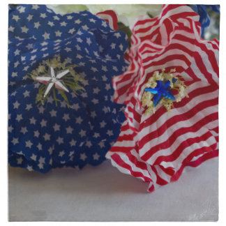 米国旗の愛国心が強い花の花束 ナプキンクロス