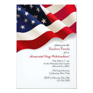 米国旗の招待状 カード