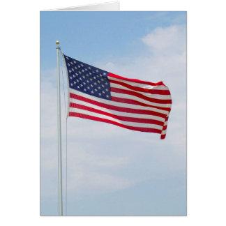 米国旗の挨拶かNotecard #1 カード