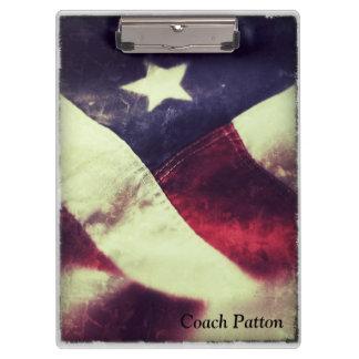 米国旗の星のクリップボード クリップボード