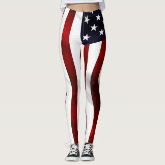 米国旗の波 レギンス