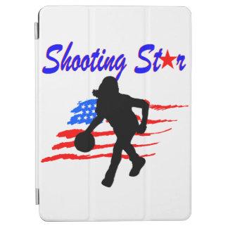 米国旗の流星のバスケットボールの女の子 iPad AIR カバー