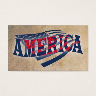 米国旗の独立 名刺