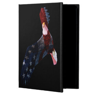 米国旗の白頭鷲のiPadの空気フォリオの箱 iPad Airケース