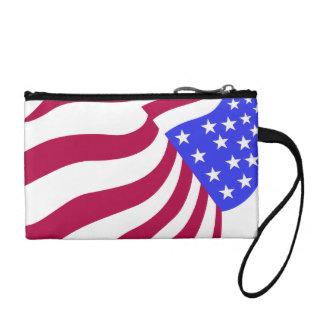 米国旗の硬貨の財布 コインパース