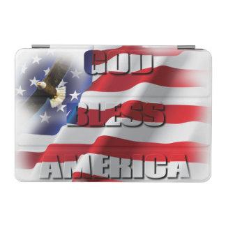 米国旗の神は愛国心が強いアメリカを賛美します iPad MINIカバー