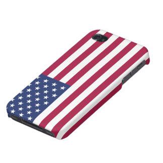 米国旗の精通したiPhone 4の無光沢の終わり iPhone 4/4Sケース