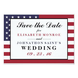米国旗の結婚式の保存日付 カード