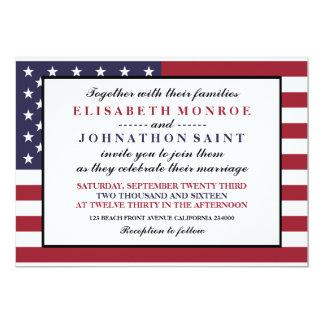 米国旗の結婚式 カード