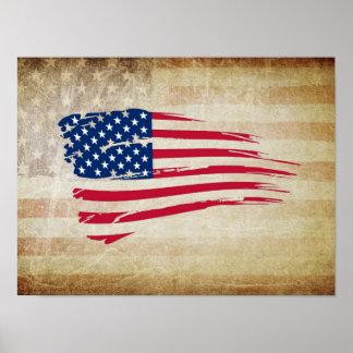 米国旗の芸術ポスター ポスター