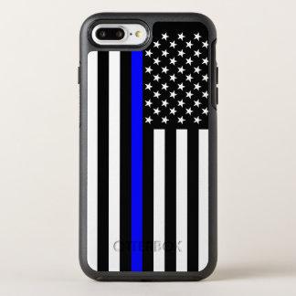 米国旗の薄いブルーライン記号 オッターボックスシンメトリーiPhone 8 PLUS/7 PLUSケース