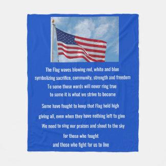 米国旗の詩 フリースブランケット