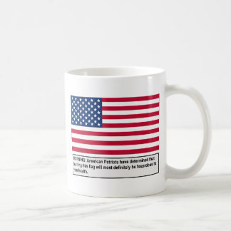 米国旗の警告 コーヒーマグカップ