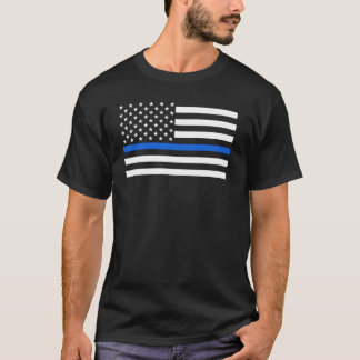 米国旗の警察はブルーラインを薄くします Tシャツ