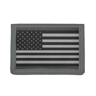 米国旗の迷彩柄の財布の灰色