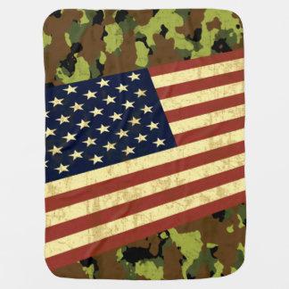 米国旗の迷彩柄 ベビー ブランケット