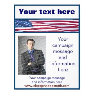 米国旗の選挙運動のフライヤのテンプレート チラシ