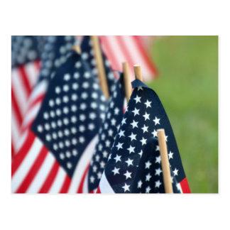 米国旗の郵便はがき ポストカード
