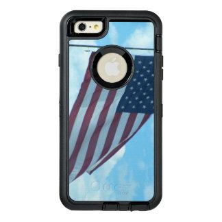 米国旗の電話箱 オッターボックスディフェンダーiPhoneケース