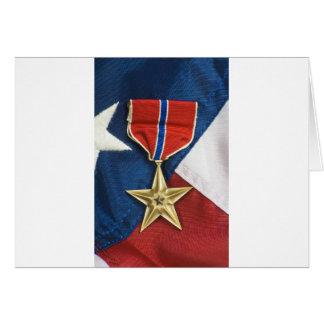 米国旗の青銅色の星 カード