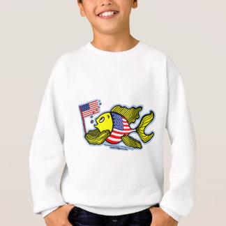 米国旗の魚 スウェットシャツ
