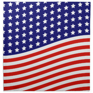 米国旗の7月4日の星条旗 ナプキンクロス
