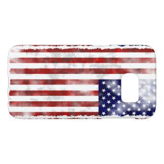 米国旗のSamsungの銀河系S7、やっとそこに Samsung Galaxy S7 ケース