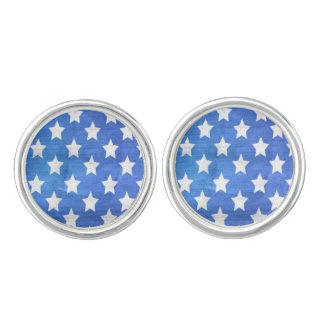 米国旗はカフスボタン、アメリカの青いギフトを主演します カフスリンク