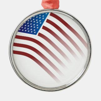 米国旗は衰退します メタルオーナメント