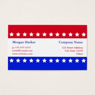 米国旗は赤白青ビジネスを主演します 名刺